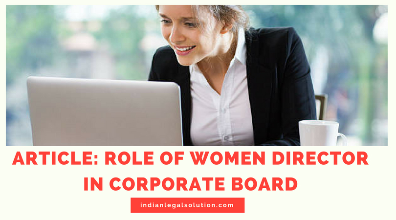 ROLE OF WOMEN DIRECTOR IN CORPORATE BOARD