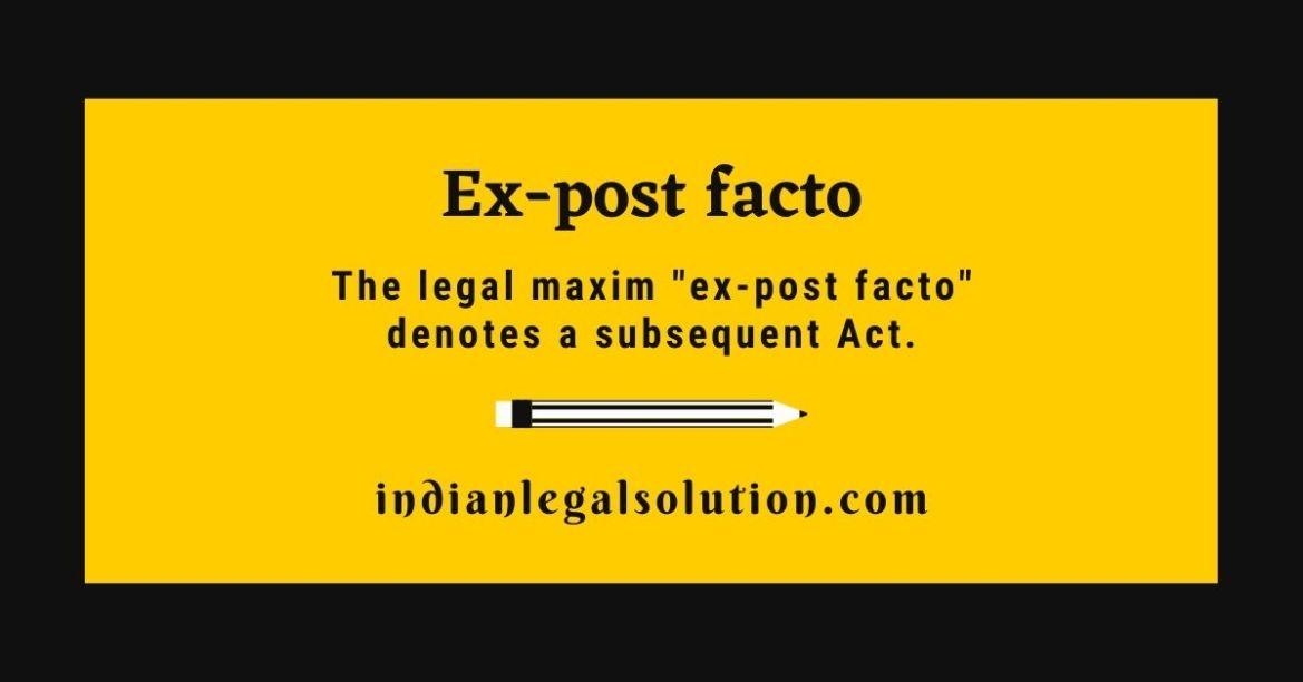 Ex-post facto