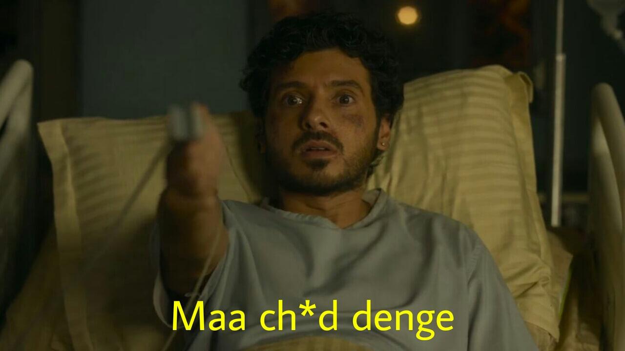 maa ch*d denge mirzapur 2 munna bhaiyaa meme template