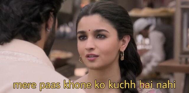 mere paas khone ko kuchh hai nahi alia bhatt dialogues in the kalank movie