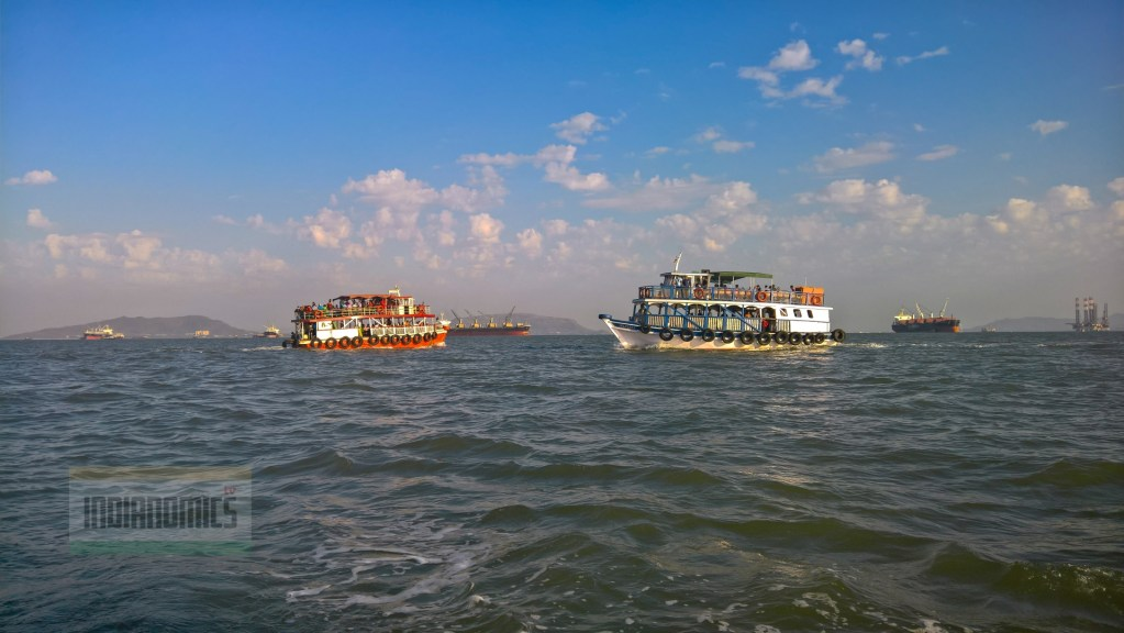Local Ferries crossing each other