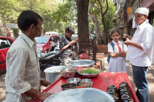 Good taste: This popular pyali stand on Clare Road in Byculla was here in Manto's time, run by the current owner's father
