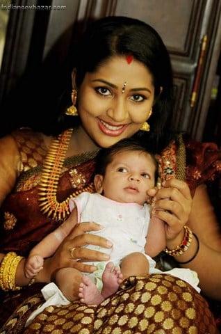 Navya Nair's baby Naming Ceremony Photos