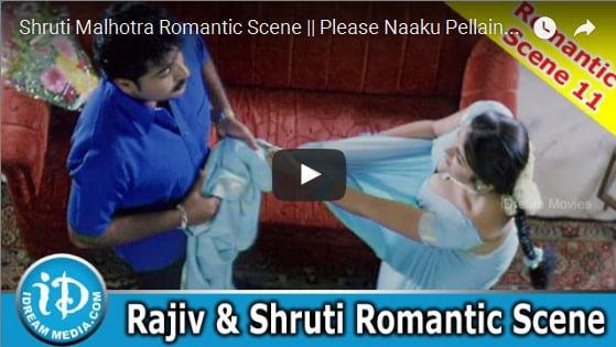 Rajiv Kanakala Removing Shruti Malhotra Saree Please Naaku Pellaindi Movie