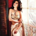 jacqueline fernandez backless in saree wallpaper 4