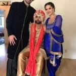सनी लियोनी भाई की शादी में Sunny Leone Brother Wedding Pic Sunny Leone Brother Sundeep Vohra Marriage Unseen Images