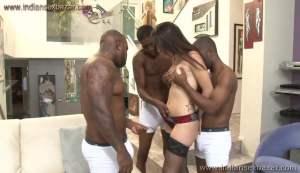 A pornstar gets three large black cocks inside her Pussy Full HD Porn FREE Download XXX00001
