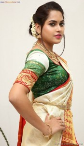 Sexy Indian Bhabhi In Saree Blouse Very Hot And Sexy Striping Saree Photos (3)