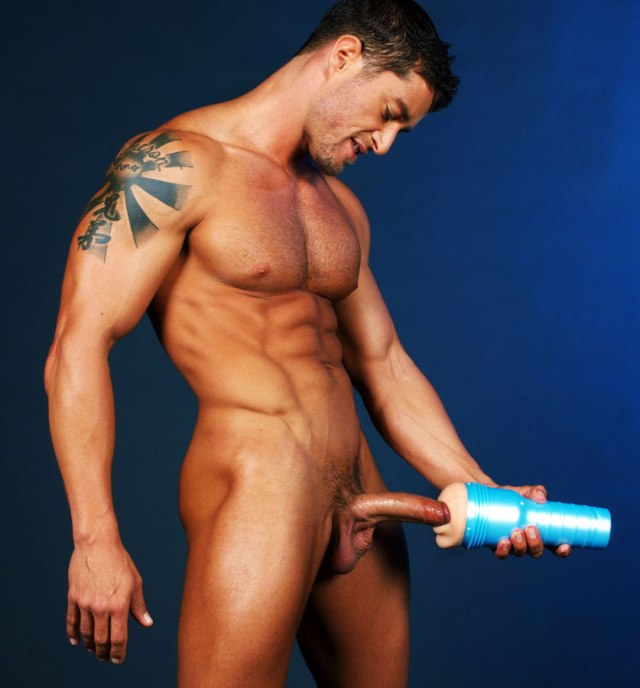 Naked Boy Doing Masturbation With Fleshlight Masturbator Sex Toy Fake Pussy 2
