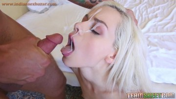 Blonde Teen Elsa Jean Eating Sperm Full HD Cumshot Porn Video And XXX Mouth Fucking Fucking Pic 2