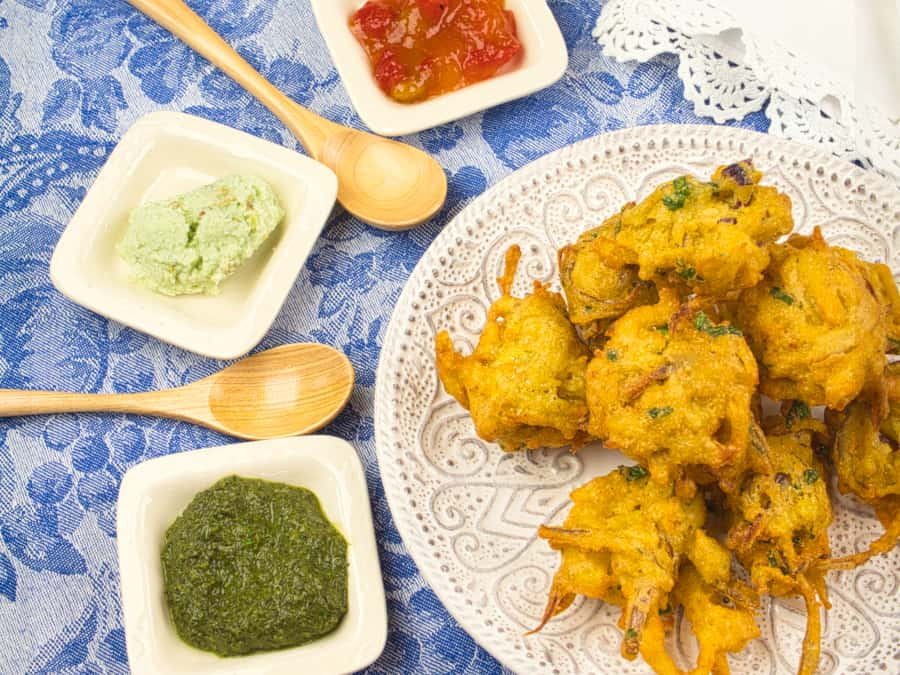 Pakoras (Onion and Potato Fritters)