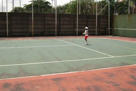 A 4-year-old Terence, when he just started his venture into Tennis.