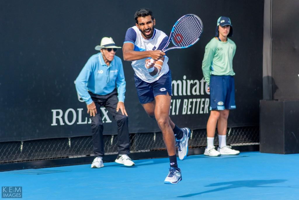 Prajnesh Gunneswaran at the Australian Open
