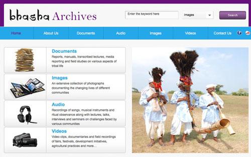 bhasha-archives-website-screenshot