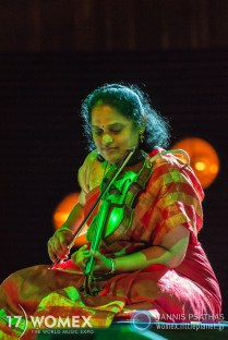 Jyotsna performing at WOMEX 2017 in Katowice, Poland - Photo: Yannis Psathas