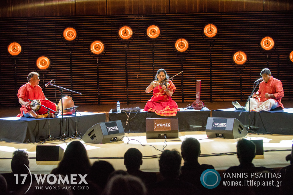 Jyotsna Srikanth performing at WOMEX 2017 in Katowice, Poland - Photo: Yannis Psathas