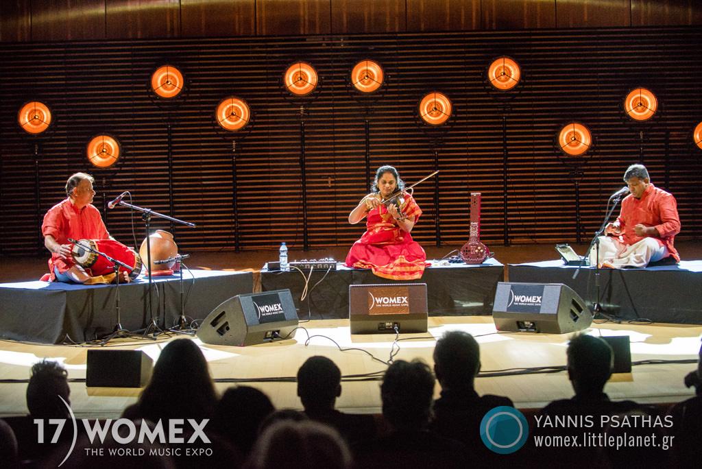 Jyotsna Srikanth performing at WOMEX 2017 in Katowice, Poland - Photo: Yannis Psathas