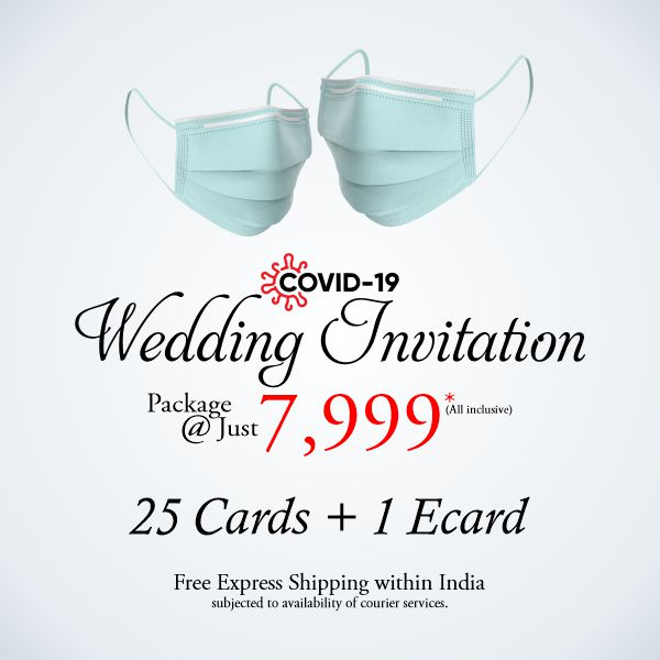 Covid wedding card