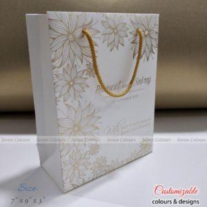 Bag White Floral - 7x9x3 (1)