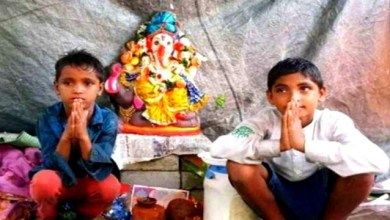 Photo of Lord Ganesh came in dream of a Muslim child! He worships God in the slum as he can not worship at home.