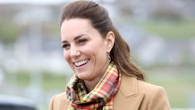 Photo of Kate Middleton Wears All Tan Outfit on Scotland Royal Tour in Orkney