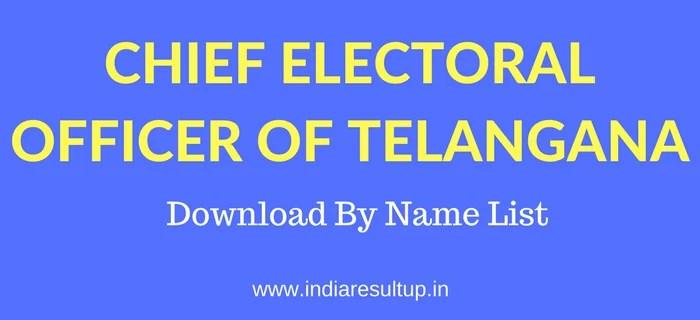 CEO Telangana