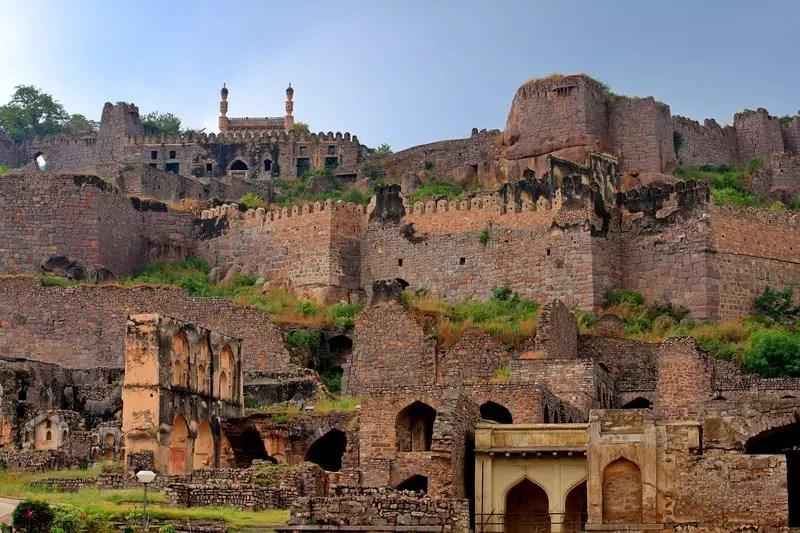 Golconda Fort near Hyderabad, India