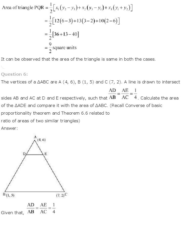 NCERT Solutions For Class 10th Maths Chapter 7