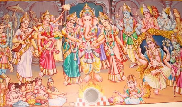 lord ganesha marriage