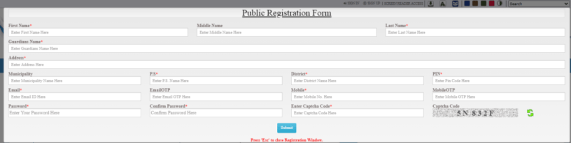 banglarbhumi registration