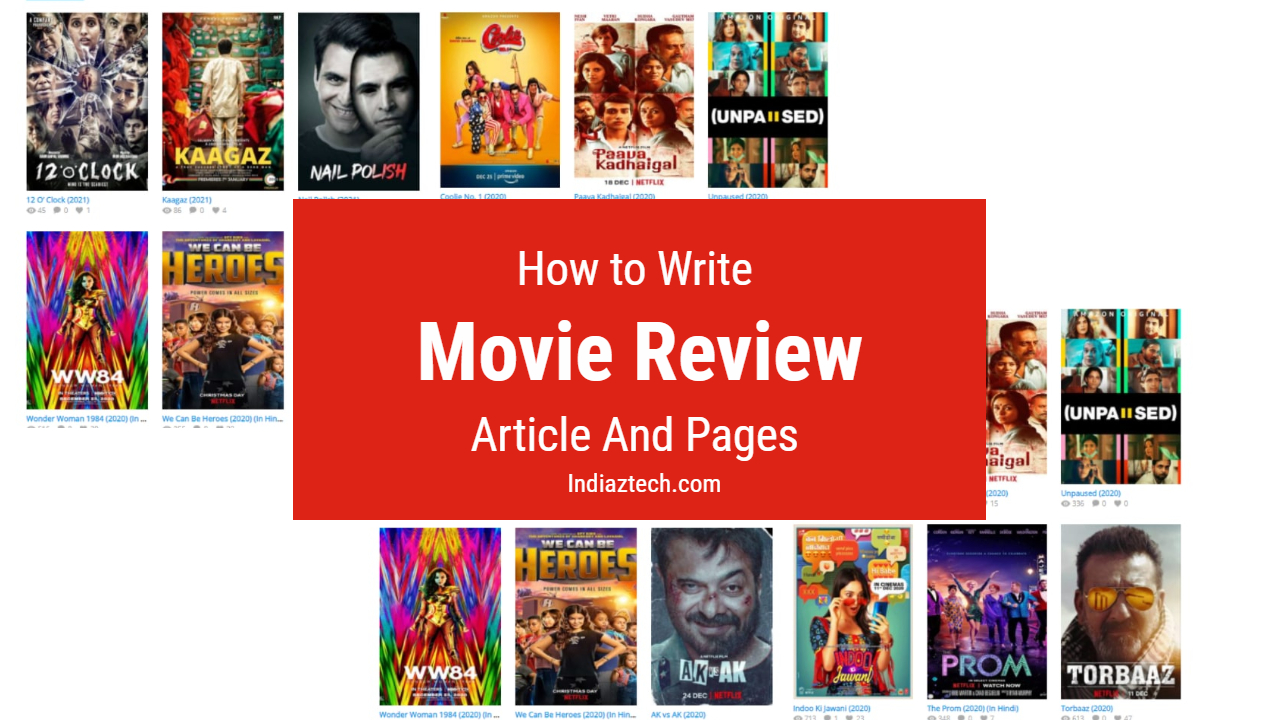 How to Write Movie Review format for Affiliate Possibilities
