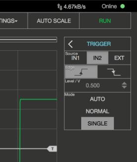 Oscilloscope Pro: Trigger-Einstellungen