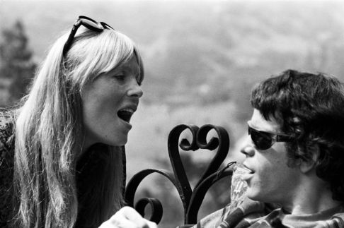 Nico and Lou Reed at the Castle, Los Angeles, 1966© Lisa Law