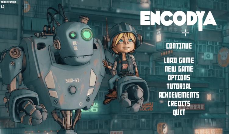 Encodya Title Screen