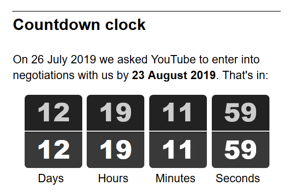 The countdown at the time of writing.