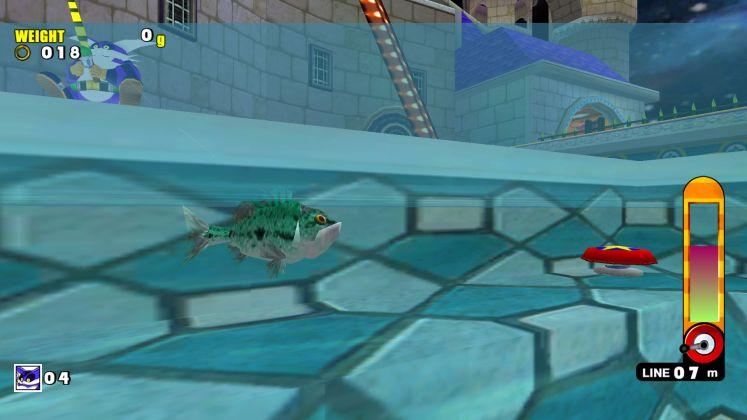 Sonic Adventure DX fishing screenshot