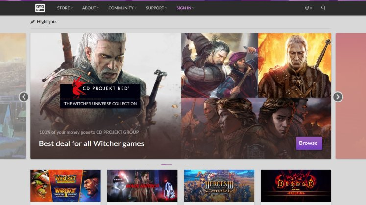 GOG home page