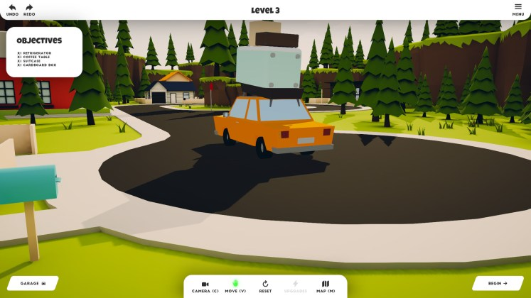 Screenshot of Radical Relocation's moving interface