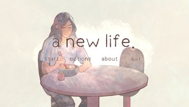 a new life - Menu Art