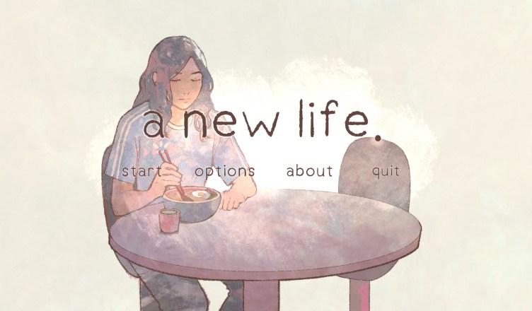 a new life - Menu Art