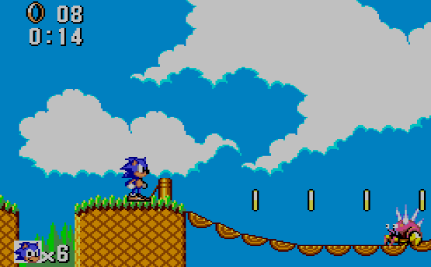 Sonic for the Master System - Bridge Zone Act 2
