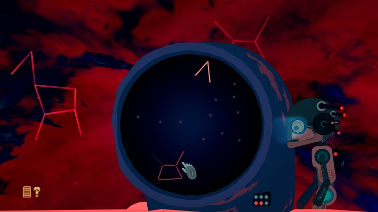 Outsider After Life Screenshot - Constellation Puzzle with Textured Background
