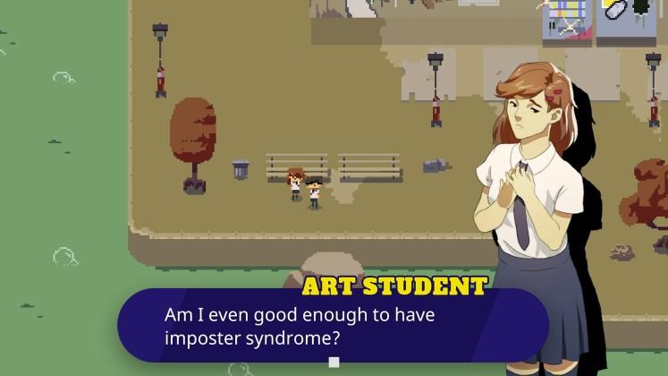 Kraken Academy Screenshot - Talking with an Art Student
