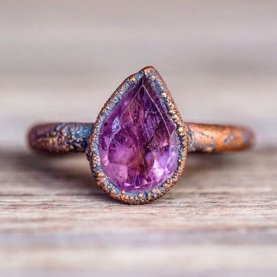 Amethyst_Tear_Drop_and_Copper_Ring_Bohemian_Gypsy_Jewels_Indie_and_Harper