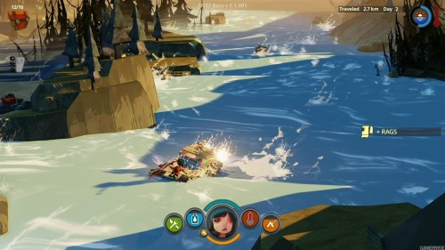 flame in the flood in game