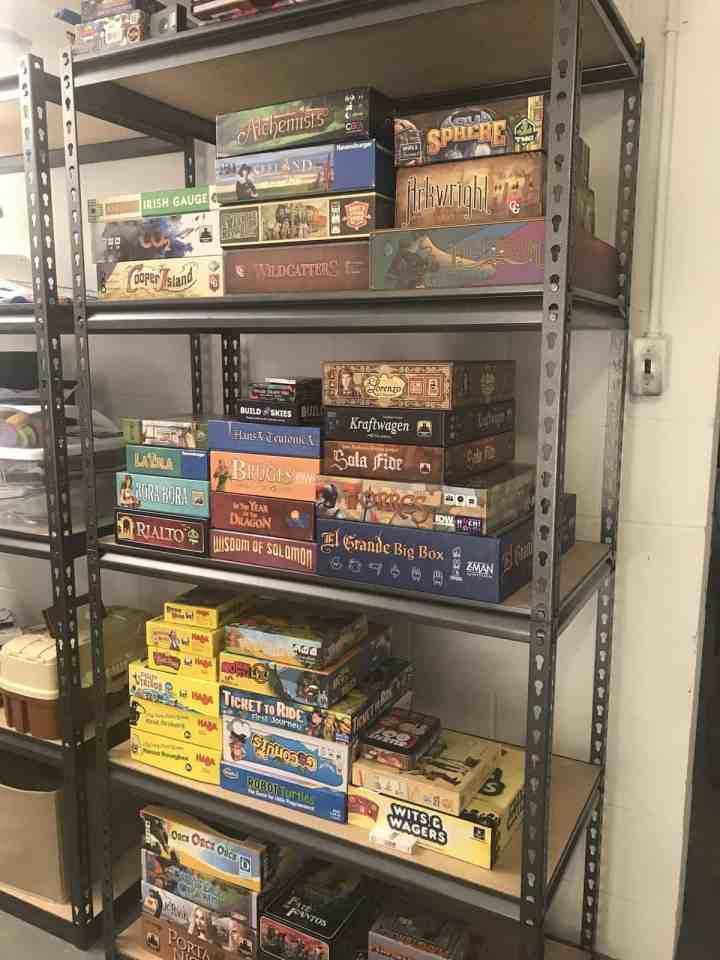 Board game shelves