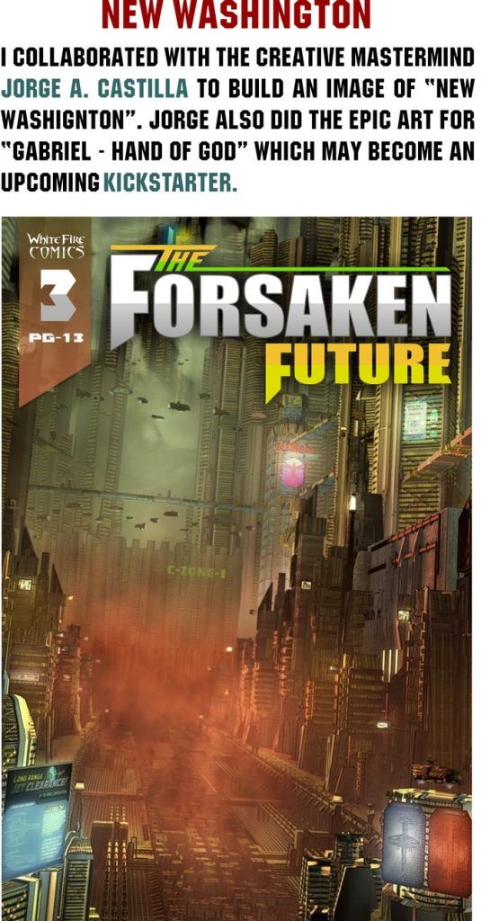 """indie comic news, WhiteFire Comics launches its first Kickstarter Campaign for its Comic Book Series """"The Forsaken Future""""!, The Indie Comix Dispatch"""