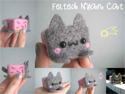 felted nyan cat
