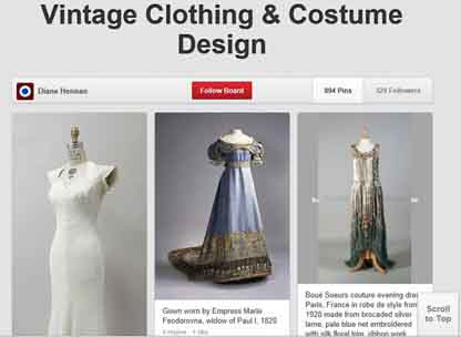 Vintage Clothing and Costume Board