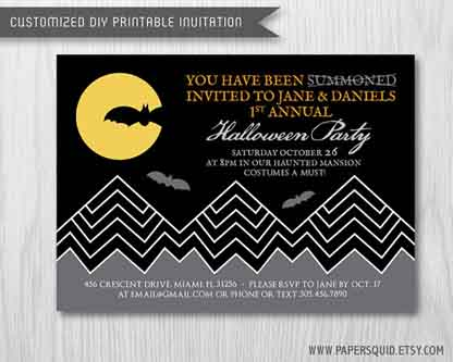 Paper Squid Inc Halloween Invite